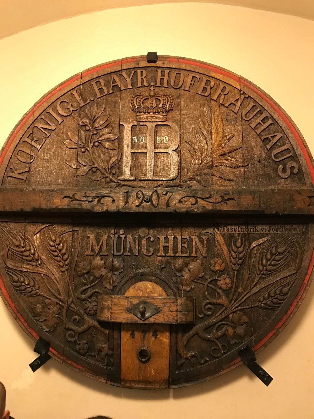 We were lucky to have gotten a table here. It's a world famous beerhaus with a notorious past. Said to be the site of Hitler's first political address.