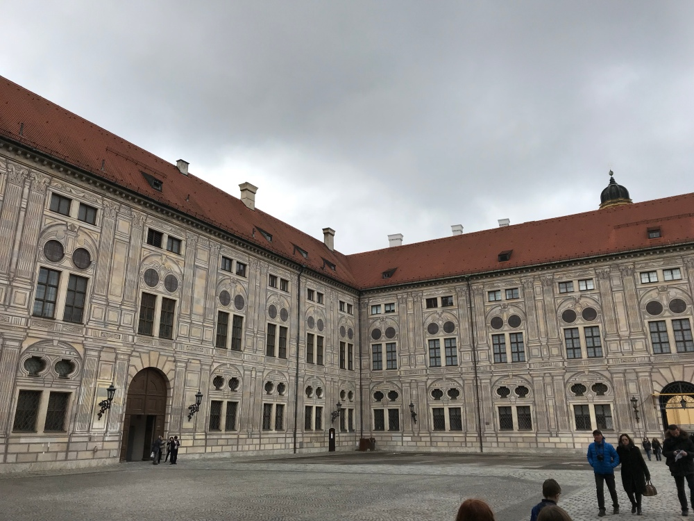 We had cool, rainy weather. Perfect for indoor exploring. The Residenz Palace.